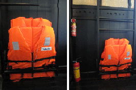 Deluxe Cabin Life Jacket Fire Extinguishers
